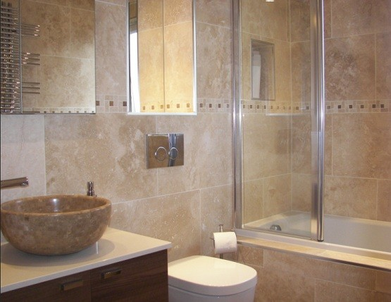 Travertine Bathroom Wall Ideas