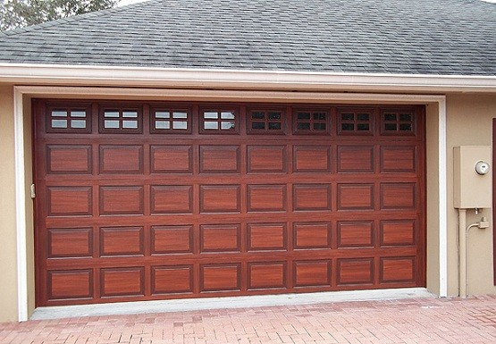 Wooden garage door panels