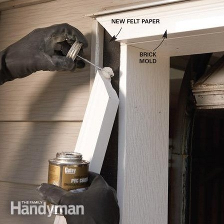 Vinyl garage door trim and what you need to know home interiors for How to install exterior door trim