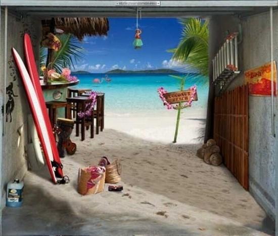 Beach Motifs Garage Door Posters