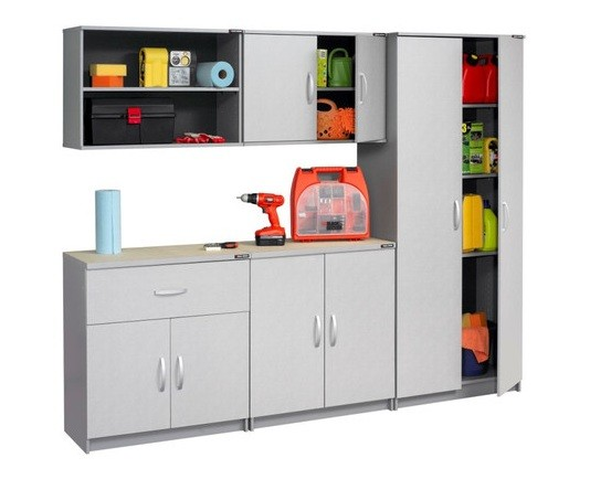 How To Install Black And Decker Cabinets U2013 Installing Garage Cabinets »  Black U0026 Decker Garage Cabinet Arrangement