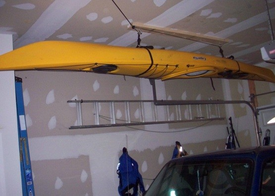 More homemade kayak ceiling storage distance how to create kayak garage storage home interiors solutioingenieria Image collections