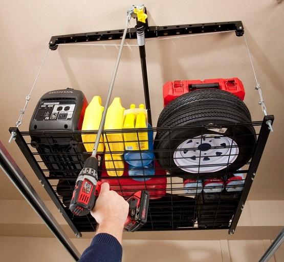 adjustable organization fleximounts rack pricedepot systems overhead racks heavy x garage storage ceiling duty