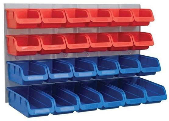 Plastic storage bins for garage
