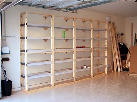 Building Shelves In Garage Installation Home Interiors