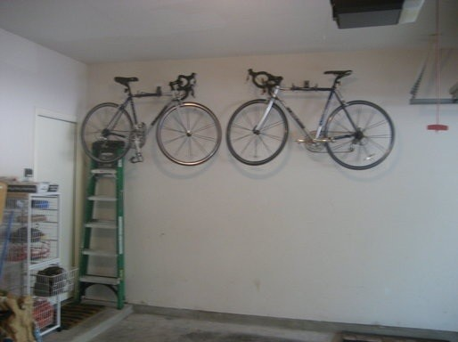the idea of bicycle garage storage home interiors. Black Bedroom Furniture Sets. Home Design Ideas