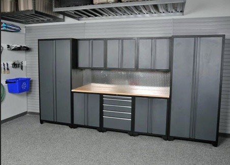 Gentil Metal Garage Storage Cabinets Offer The Durability And Sturdy Protection »  Adjustable Shelves Metal Garage Storage Cabinets