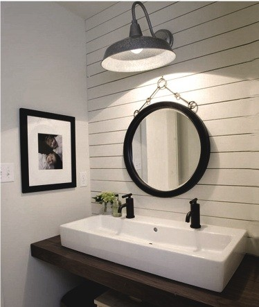 Barn light hang over the laundry room sink Home Interiors