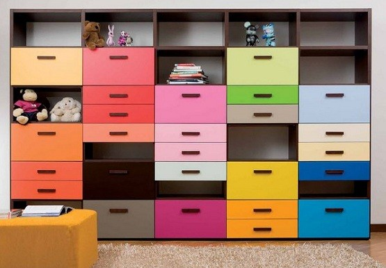 Kids Bedroom Storage bedroom storage with colour for kid bedroom | home interiors