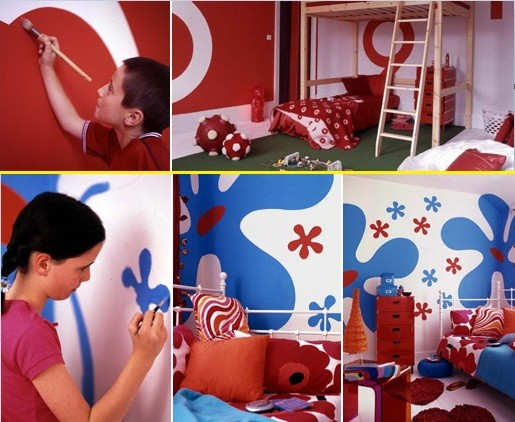 Kids bedroom paint ideas for boy or girl bedrooms home for Boy and girl bedroom paint ideas