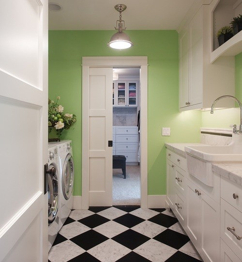 Basement Laundry Room Ideas, Washing In The Basement Isnu0027t Too Horrible »  Bright Basement Laundry Room Ideas