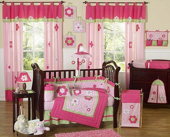 Flowery theme bedding sets for girls