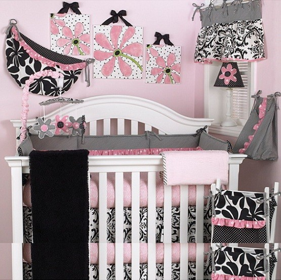 Girly-themed bedroom sets for kids