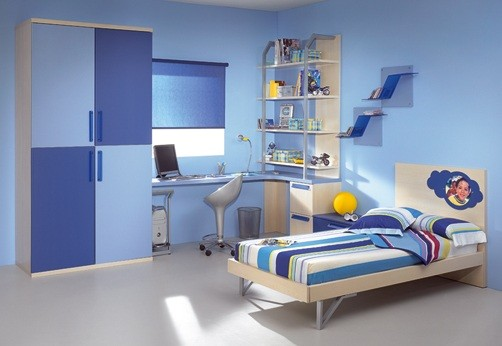 Kids Bedroom Paint Ideas For Boy Or Girl Bedrooms » Simple Kid Bedroom With  Blue Color