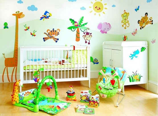 Simple kids bedroom sets with animal-themed