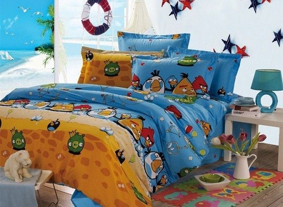 5 kids bedroom decorations with funny and cute impression for Angry bird decoration ideas
