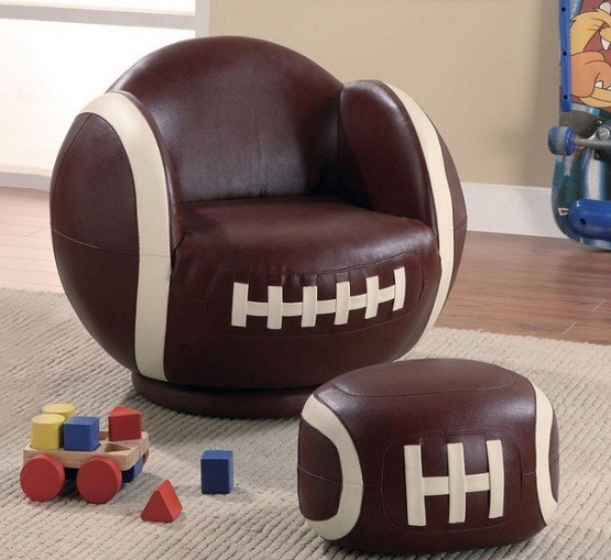 Brown kids chairs for kids bedroom
