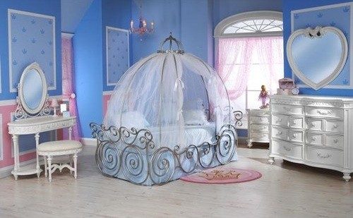 Cinderella accent bedroom furniture sets for baby girl | Home ...