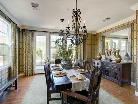 Dining room chandelier traditional ideas home interiors - Small dining room chandeliers ...