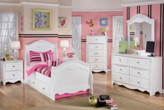 pics photos home girls rooms girls bedroom sets belle noir white 5