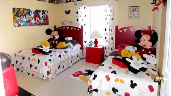 Mickey mouse kids bedroom decorations home interiors Mickey mouse bedroom ideas