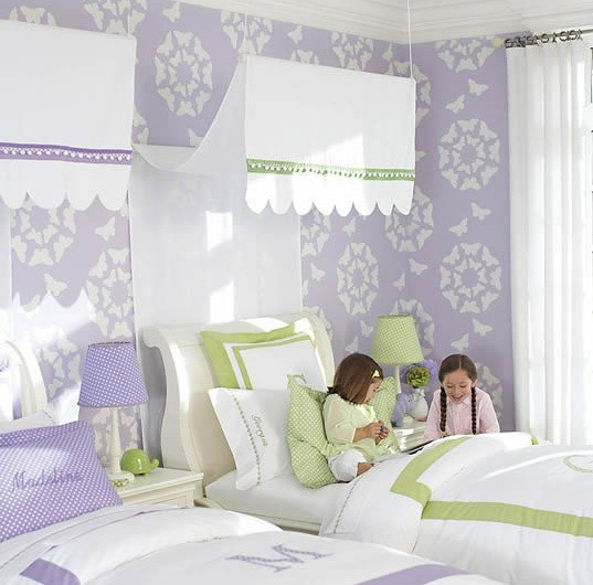 modern stencils paint girl bedroom home interiors
