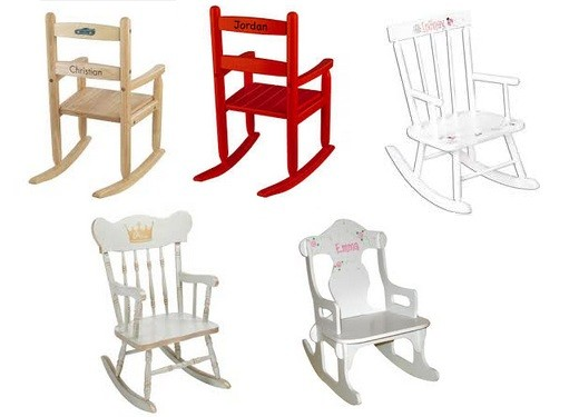 Personalized kids rocking chairs