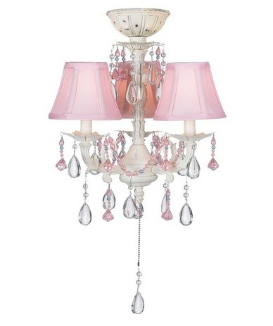 pink traditional style chandelier lighting