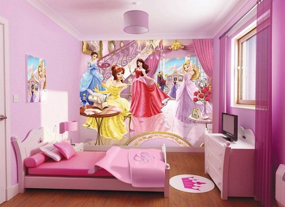 Princess kids bedroom decorations