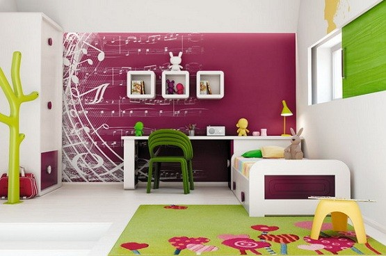 Simple white bedroom furniture for kids | Home Interiors