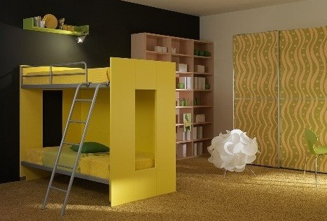 simple yellow kids modern bedroom furniture home interiors