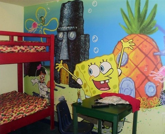 Spongebob Kids Room Wall Decals Home Interiors - Spongebob room decals