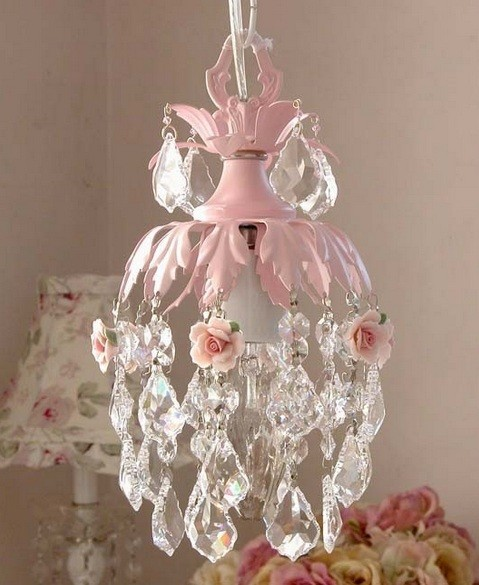 Teardrop Princess Chandelier For Girl Bedroom