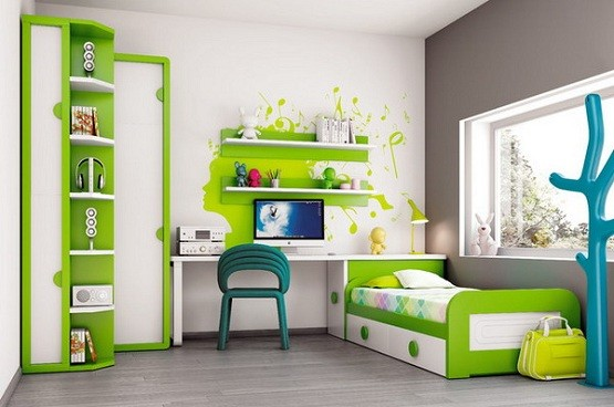 White green kids modern bedroom furniture home interiors White childrens bedroom furniture