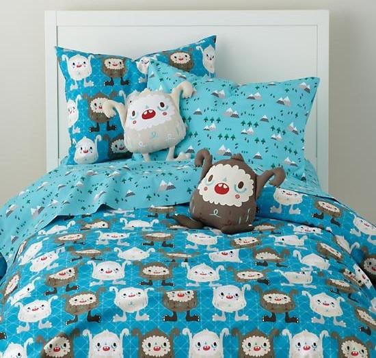 Yeti bedding sets for kids bedroom