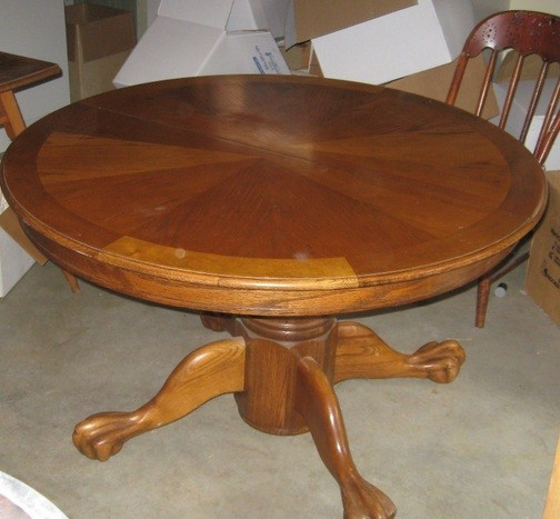 48 inch round oak dining table with drop leaf home interiors for 48 dining table with leaf