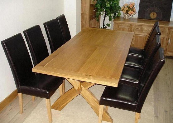 oak dining room table and chairs contemporary solid oak dining room