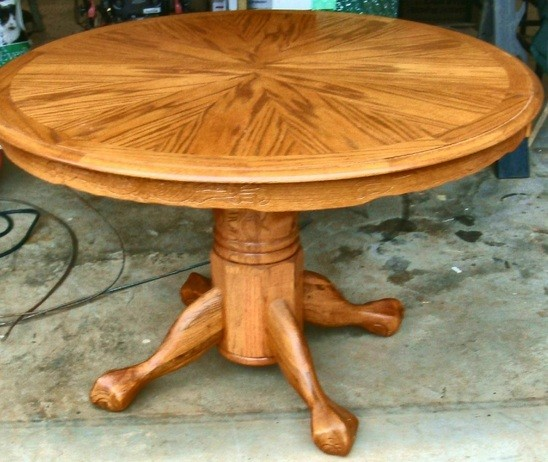 Elegant The Beauty Of Round Dining Room Table With Leaf / Leaves » Dining Room Table  Tiger Oak With Leaf
