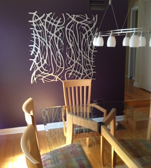 Metal wall art ideas for dining room home interiors for Wall hanging ideas for dining room