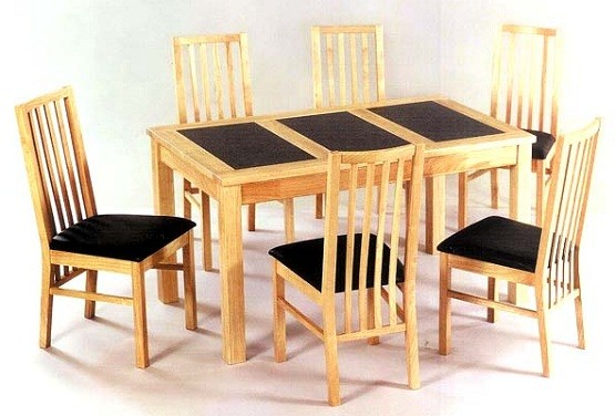 Minimalist Sets Oak Dining Room Table And Chair Home