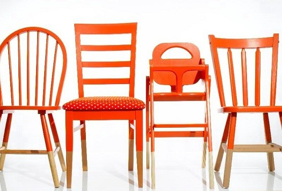 Orange Dining Room Chairs Home Interiors