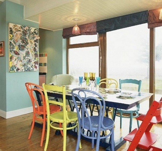Unique Dining Room Furniture: The Ways Of Painting To Make Unique Dining Room Chairs