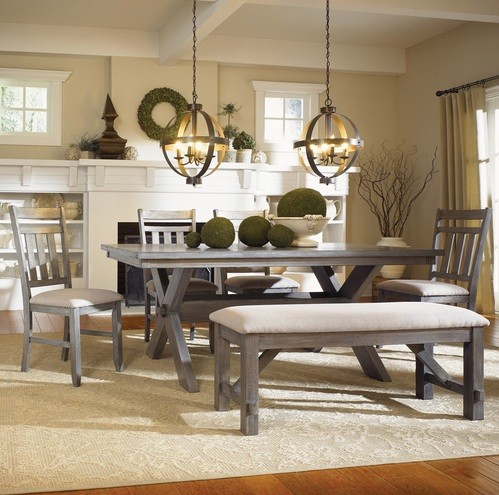 Rectangular Trestle Dining Table amp Chairs Home Interiors