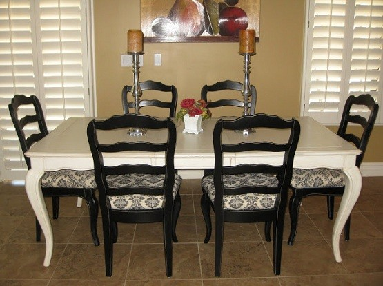 How to Refinish and Repair an Oak Dining Room Table and Chairs ...