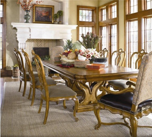 Types Of Tuscan Dining Room Furniture » Tuscan Trestle Dining Table And  Chair Set Amazing Design