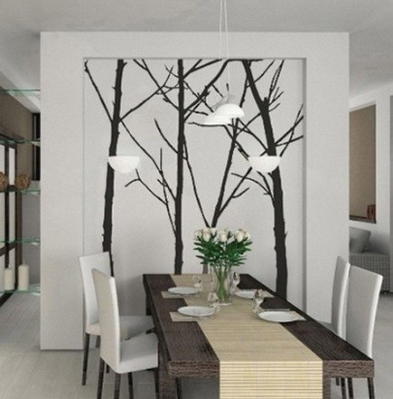 Contemporary dining room wall art ideas home interiors for Dining room wall art images