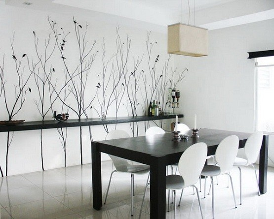 Wall Murals As Dining Room Art Ideas
