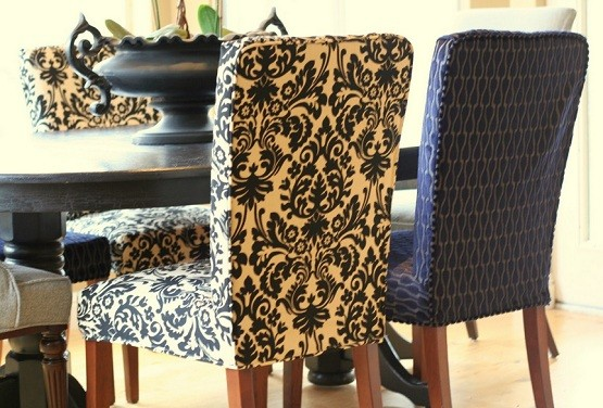 Custom fabric seat covers for dining room chair | Home Interiors