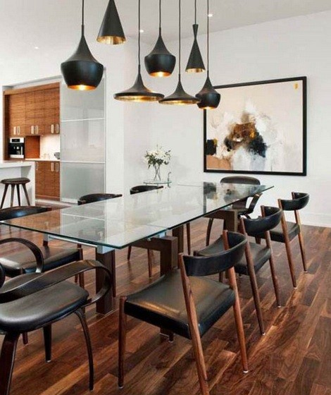 Light Fixtures Dining Room Ideas: Contemporary Dining Room Lighting Ideas - Homeposh