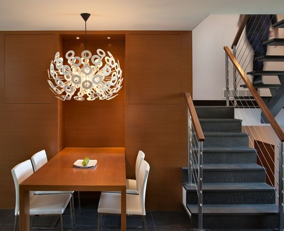 Contemporary dining room lighting ideas homeposh home interiors - Contemporary dining room chandelier ...
